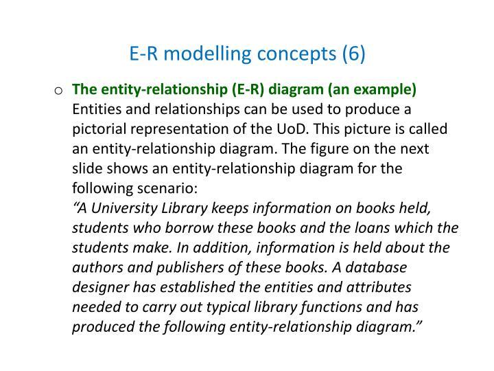 E-R modelling concepts (6)