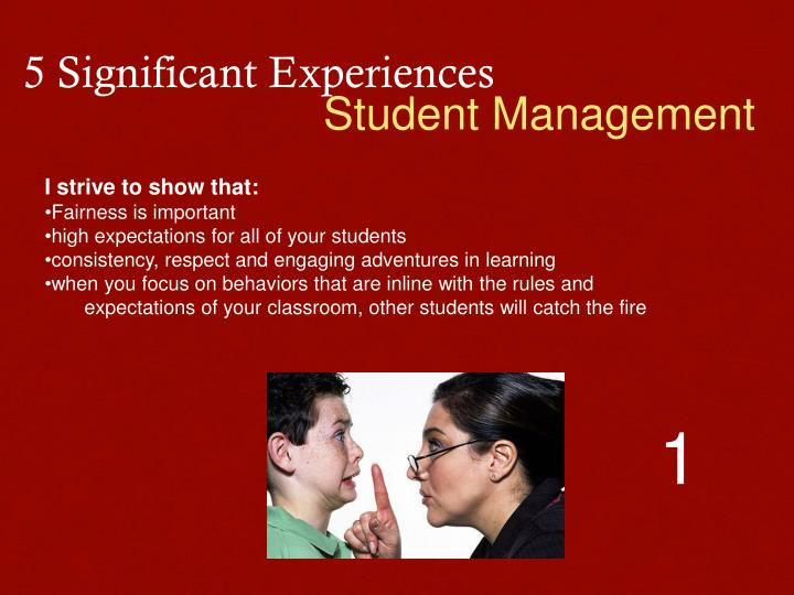 5 Significant Experiences