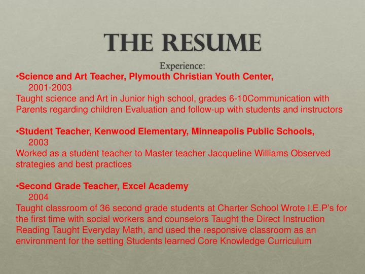 Science and Art Teacher, Plymouth Christian Youth Center,