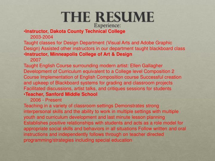 Instructor, Dakota County Technical College