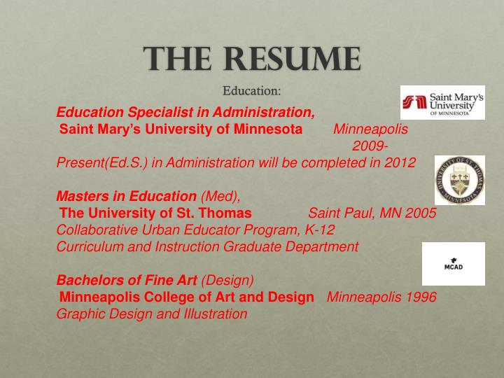 Education Specialist in Administration,