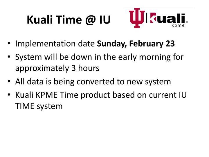 Kuali Time @ IU