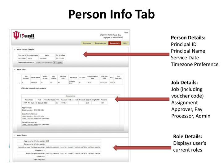 Person Info Tab