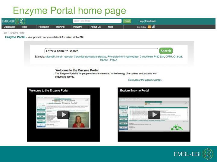 Enzyme Portal