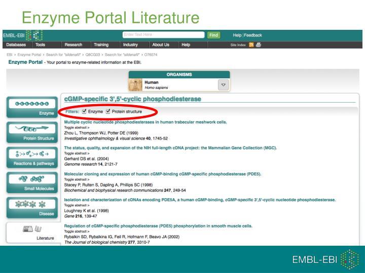 Enzyme Portal Literature