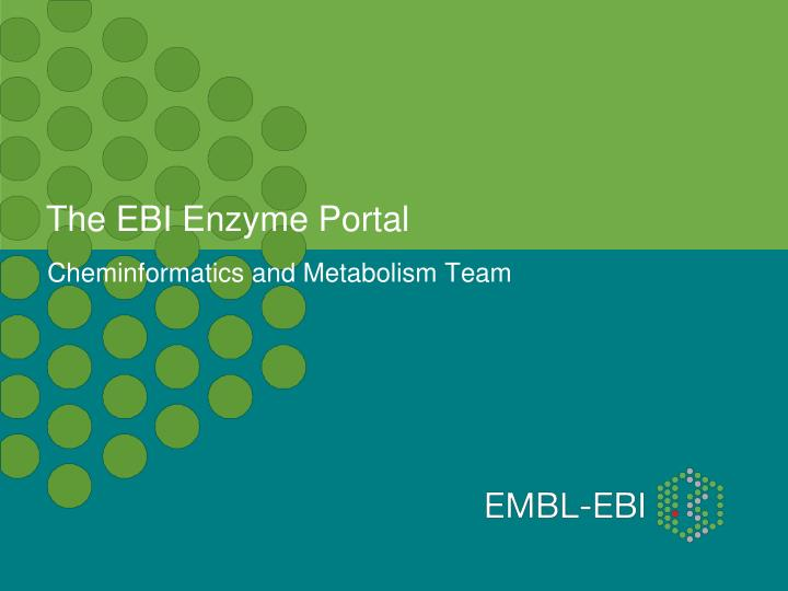 the ebi enzyme portal