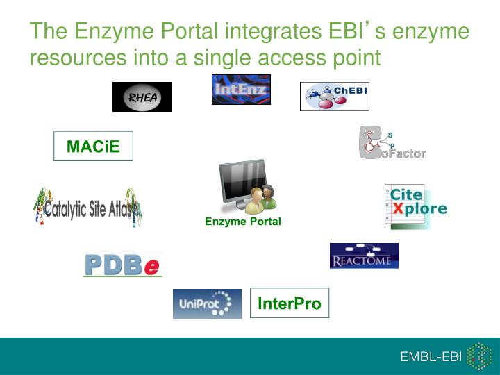The enzyme portal integrates ebi s enzyme resources into a single access point