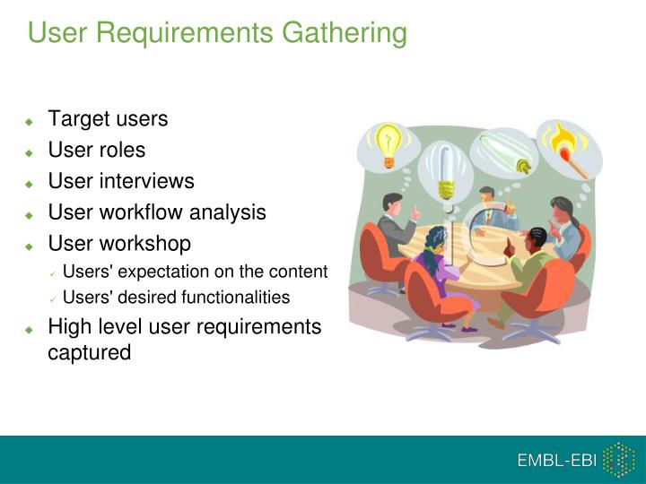User Requirements Gathering
