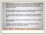 the dsp dialogue questions