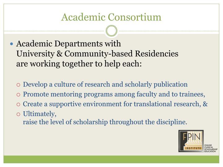 Academic Consortium