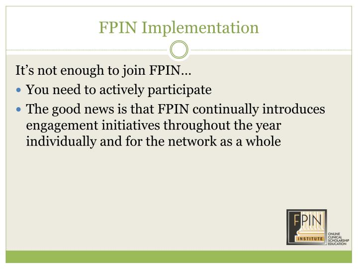 FPIN Implementation