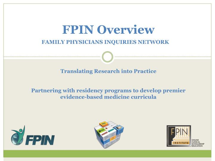 fpin overview