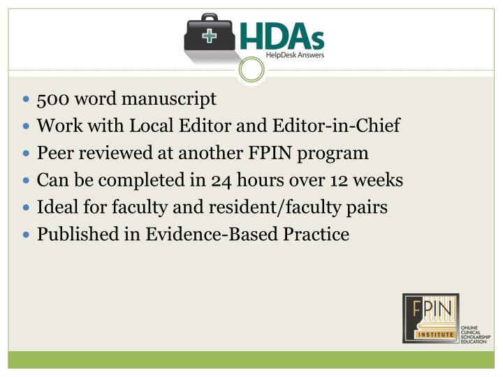 500 word manuscript