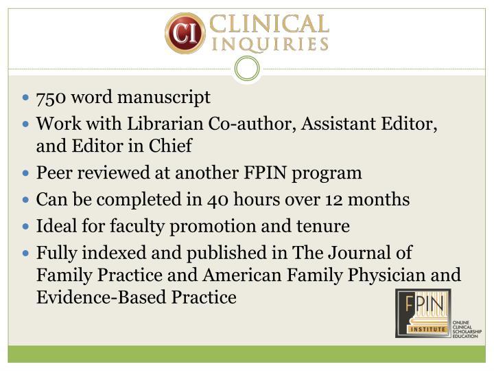 750 word manuscript