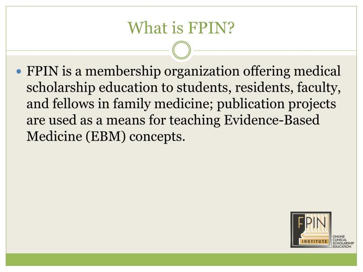 What is FPIN?