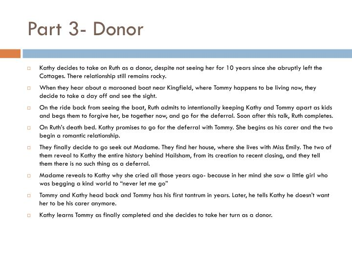 Part 3- Donor