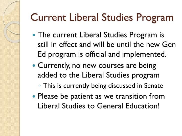 Current Liberal Studies Program