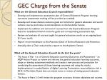 gec charge from the senate
