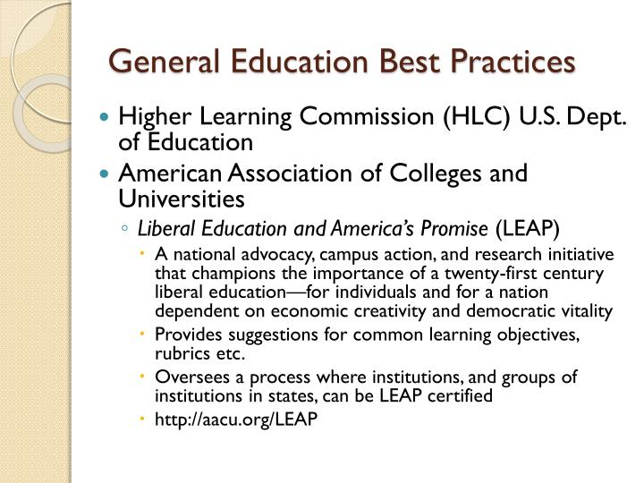 General Education Best Practices