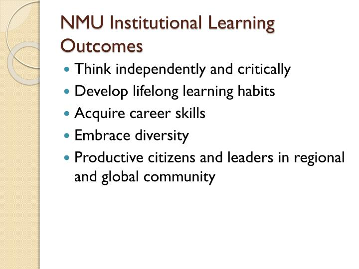 NMU Institutional Learning Outcomes