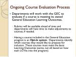 ongoing course evaluation process