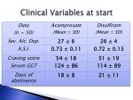 clinical variables at start2