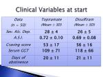 clinical variables at start4