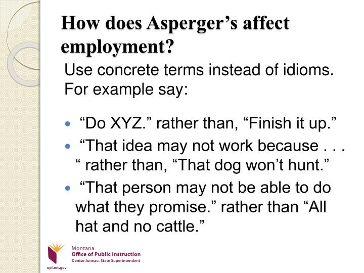 How does Asperger's affect employment?
