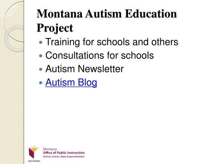 Montana Autism Education Project