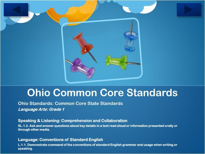Ohio Common Core Standards