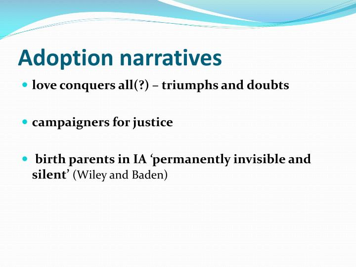Adoption narratives