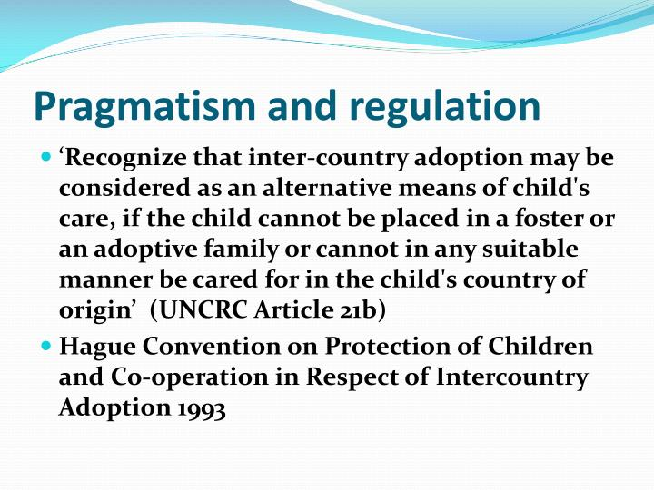 Pragmatism and regulation