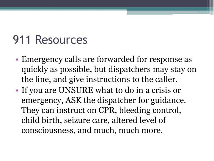 911 Resources