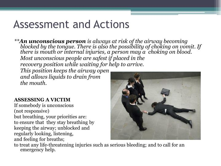 Assessment and Actions