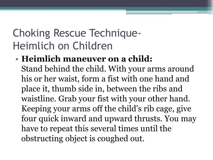 Choking Rescue Technique-