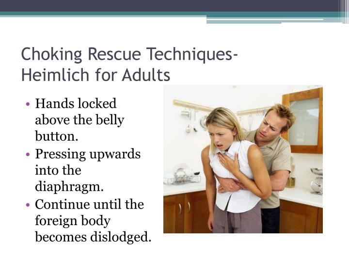 Choking Rescue Techniques-