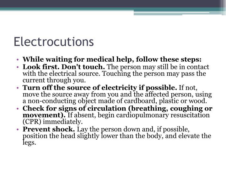 Electrocutions