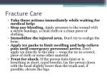 fracture care
