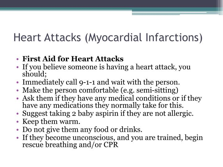 Heart Attacks (Myocardial Infarctions)