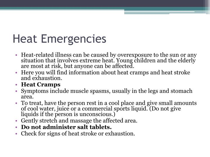 Heat Emergencies