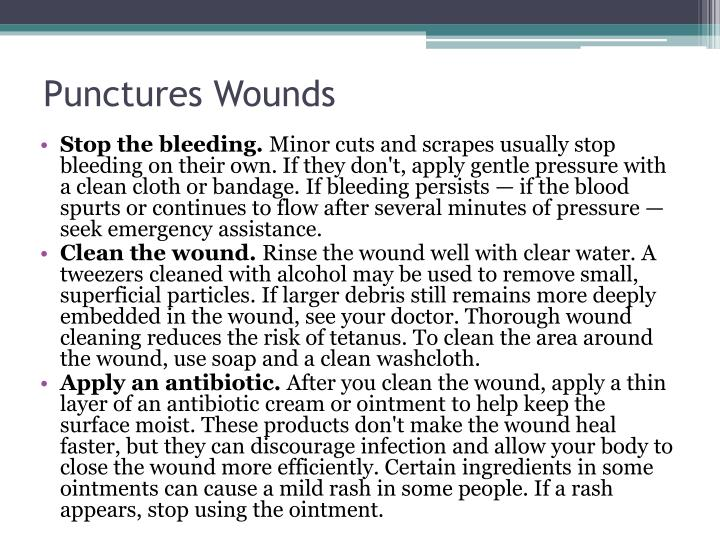 Punctures Wounds