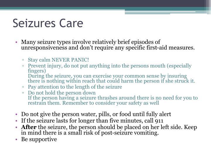Seizures Care