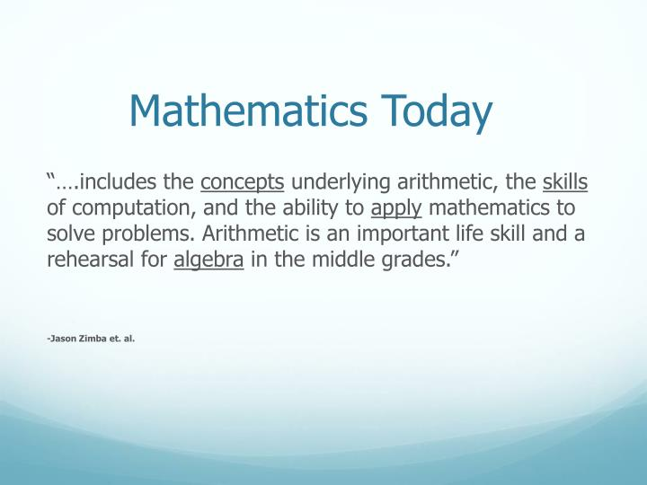 Mathematics Today