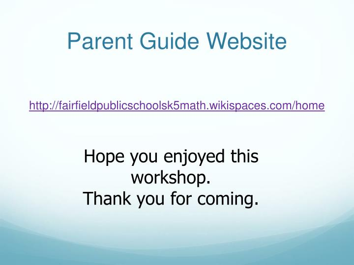 Parent Guide Website