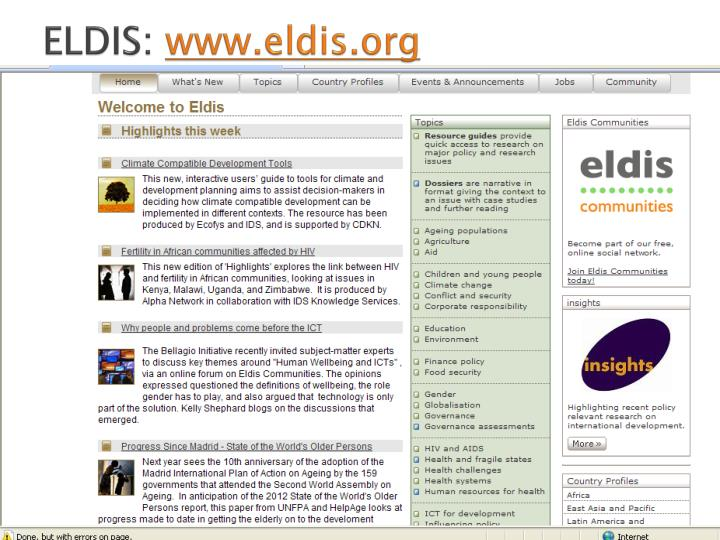 ELDIS: