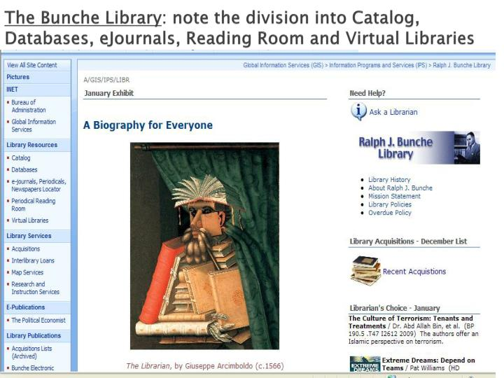 The Bunche Library