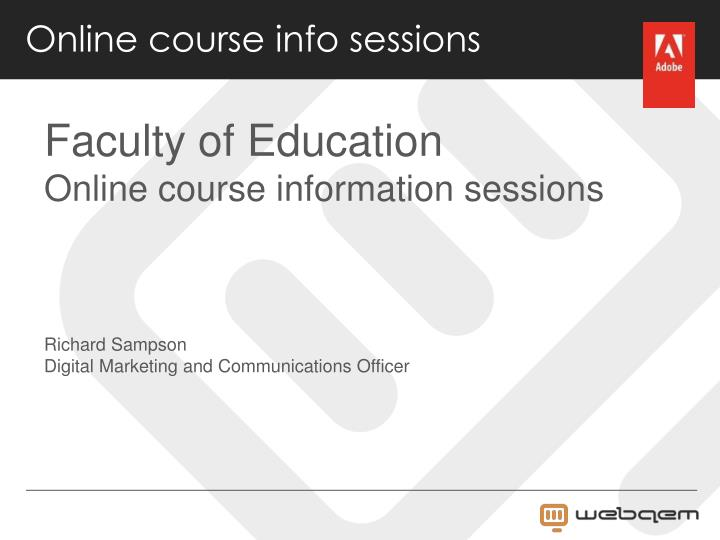 Online course info sessions
