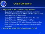 cutr objectives
