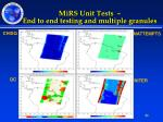 mirs unit tests end to end testing and multiple granules1