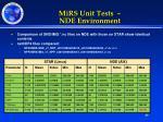mirs unit tests nde environment1